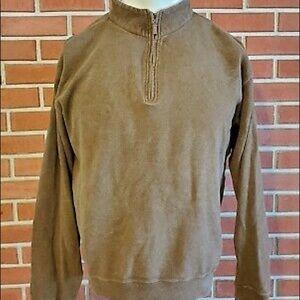 PETER MILLAR Brown Pullover  1/4 Zip Men Size L